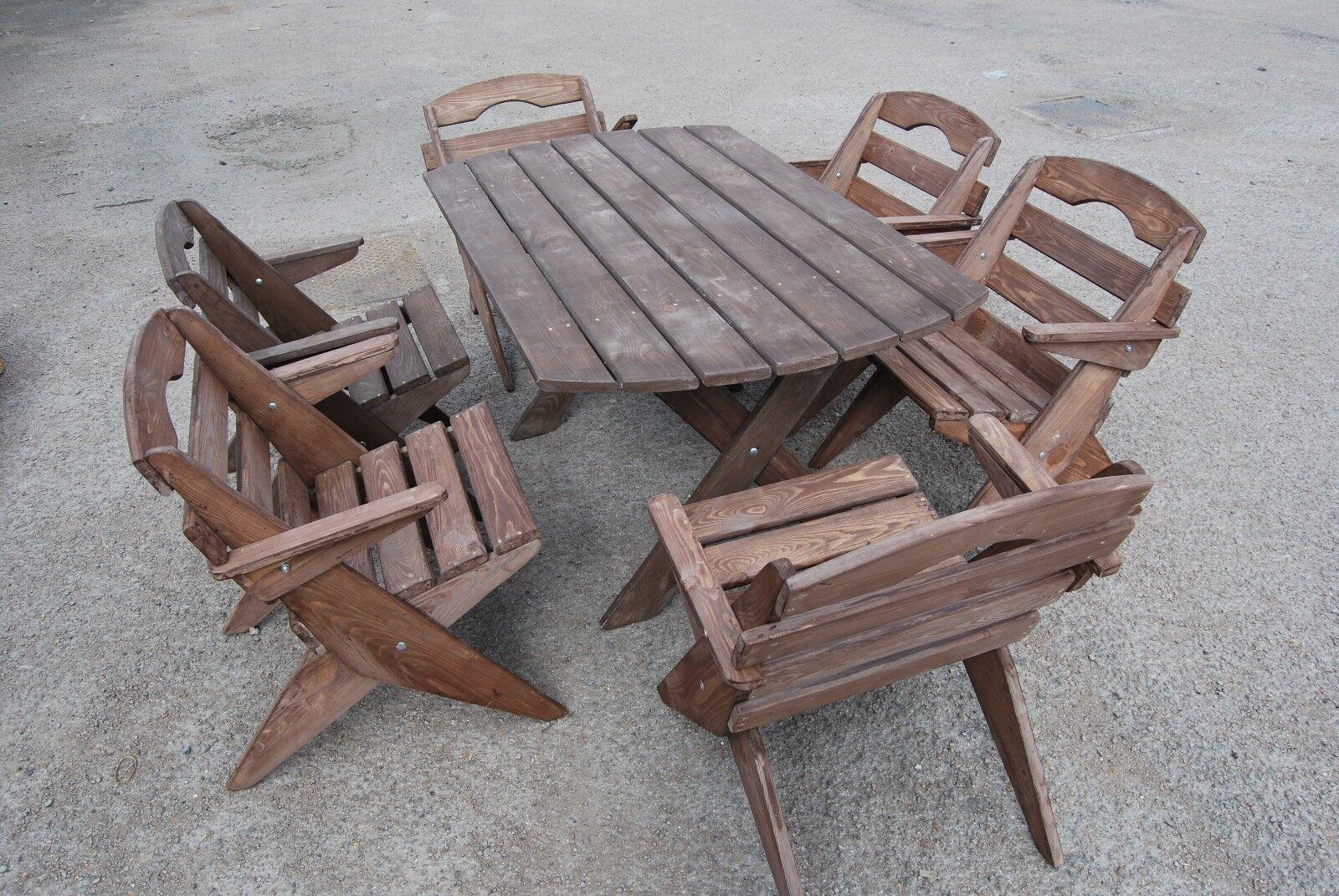 Wunderschöne Gartenmöbel Massivholz Faltbar Tisch Und 6 Faltbar