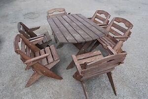 Sedie Da Giardino In Legno Pieghevoli.Bello Mobili Da Giardino Legno Massello Tavolo Pieghevole E 6