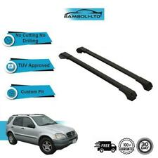 Aluminium Car Roof Bars Rails Racks For Mercedes Benz M Class ML 1998-2004