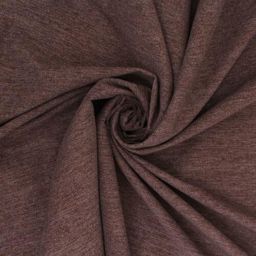 Chenille mobiliario de tela de tapicería Byron Liso Terciopelo Suave Marrón Moca