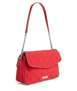 fbb2bc1005f TANGO RED Vera Bradley CHAIN SHOULDER BAG Microfiber Patent Leather ...