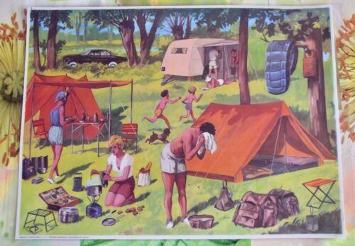 Décoration Murale,Set de Table 42 x 30 cm le Camping en 1960 à la campagne