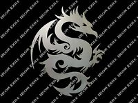 Dragon Tall Chinese Oriental Medieval Tribal Metal Wall Art Decor Plasma Cut Out