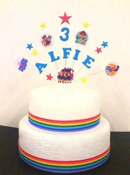 shopkins star birthday celebration cake topper personalised any
