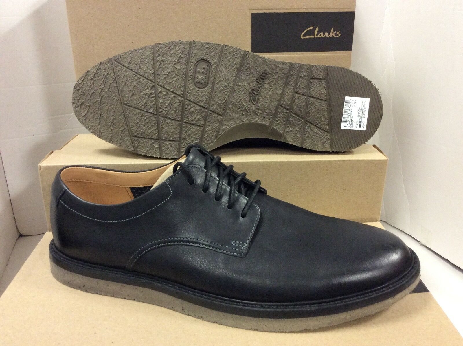 Clarks in Bonningtonlace Scarpe da uomo in Clarks pelle nera, taglia /EUR 46 92c7bb