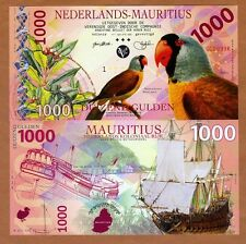 Netherlands Mauritius, 1000 Gulden, 2016 Private POLYMER, UNC > Mascarene Parrot