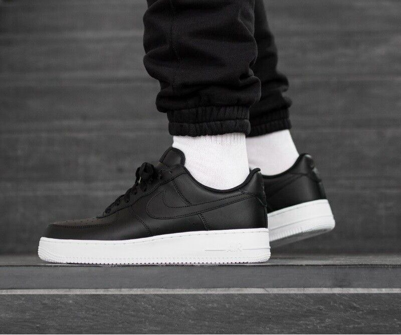 Nike Air Force 1 07 Low Sneakers Men's Lifestyle Comfy shoes Black White