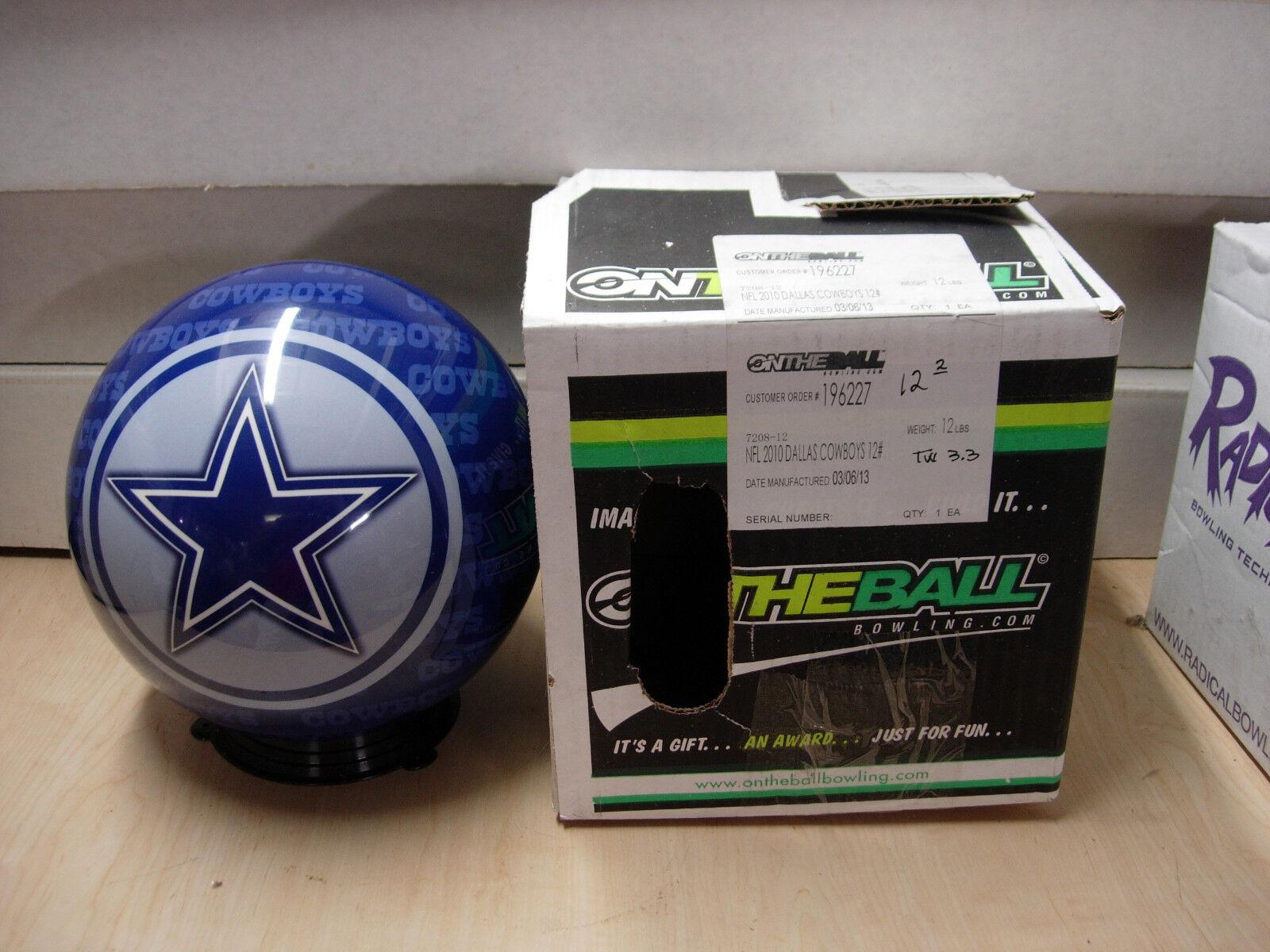 12oz, TW 3.3 Bowling Ball OTBB Viz-A-Ball NFL Retired 2010 Dallas COWBOYS
