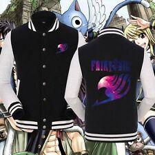 Anime Fairy Tail Unisex Baseball Cool Jacket Sweater Cosplay Coat Tops popular