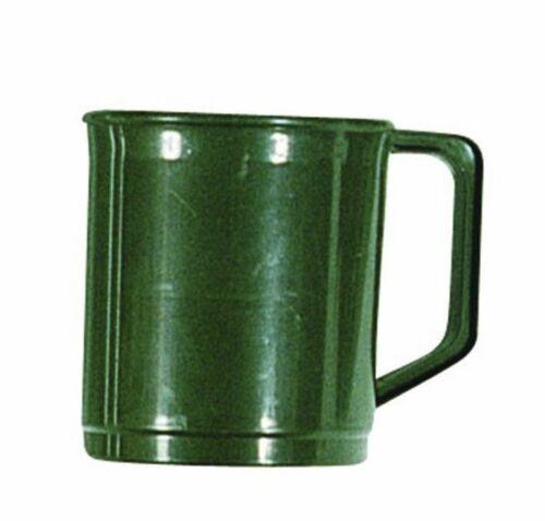 4 x Vert Poly Plastique incassable extérieur restauration Camping Tasse ou Cadets Mug