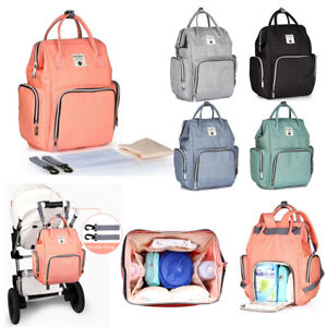 Insular Mummy Backpack Diaper Bags Large Multifunctional Baby Nappy Changing Bag