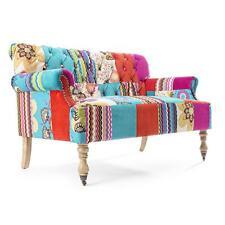 divano imbottito tessuto patchwork design vintage moderno divani sofà colorato