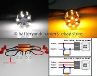 Type 1, 3157 3357 3457 Switchback LED Turn Signal Lights + 50W 6Ohm  Res