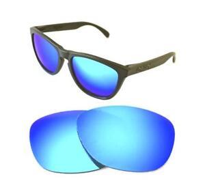 Nuevo-Polarizado-Custom-Ice-Blue-Lente-Para-Oakley-Frogskins-Sunglasses