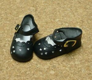 """Doll Shoes 38mm Navy Blue Heart Cut  for 11/"""" Kaye Wiggs"""