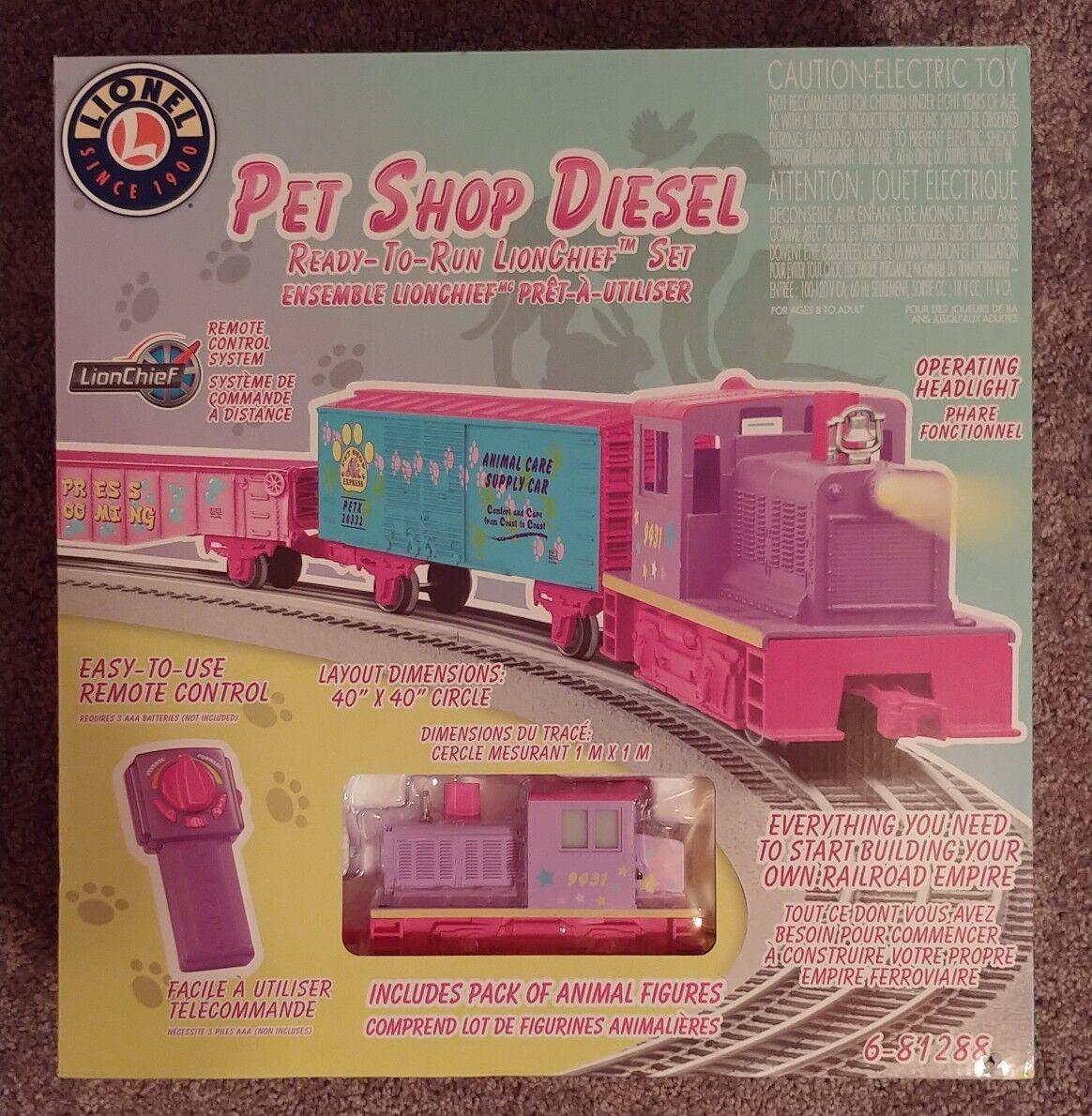 Lionel Trains Pet Shop Diesel Eléctrico Juguete del ferroCocheril Remoto Set-Nuevo En Caja
