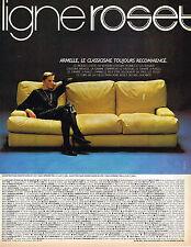 PUBLICITE ADVERTISING 114  1982  LIGNE ROSET  fauteuils canapés  ARMELLE