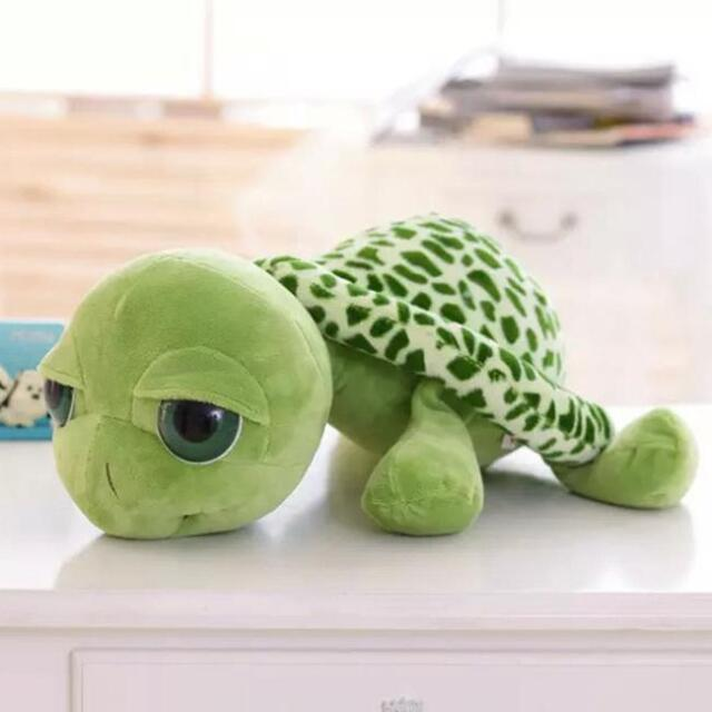 Big Eyes Green Tortoise Turtle Soft Stuffed Plush Toy Animal Baby Kid 20CM