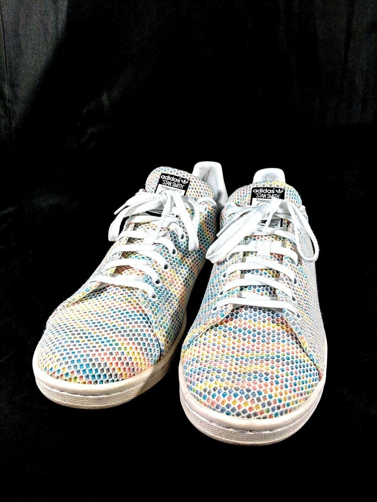 Adidas Sz 12 shoes PK Stan Smith Mesh Primeknit Tennis S82250 White Multicolor