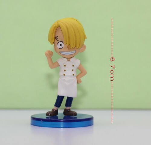One Piece Japanese Anime 6.7cm Figure SANJI young version #103OPC