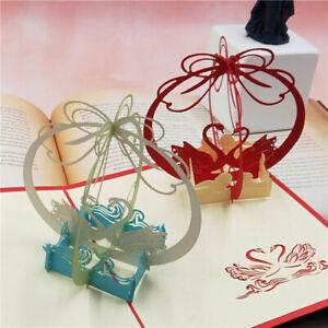 Stanzschablone-3D-Welle-Schwan-Paar-Hochzeit-Geburtstag-Weihnachten-Geschenk-DIY