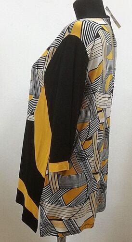 filigr Rundhals Shirt-Damen Lea H by.Hegler Muster streckende Seiteneinsät