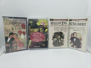 Clasical-Music-cassette-tapes-LOT-Of-4-Beethoven-Schubert