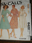 6422 Vintage McCalls Sewing Pattern Misses Pullover Shirt Dress Carefree OOP Sew 10 Cut