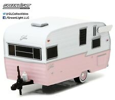 1:64 GreenLight HOBBY EXCLUSIVE PINK & WHITE Shasta Airflyte Camper HITCH & TOW