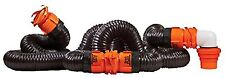 Camco RV RhinoFLEX 20' Foot Sewer Hose Kit Swivel Fitting Trailer Camper Set Kit