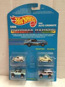 Mattel-Hot-Wheels-Mini-Auto-Cromate-COLLECTION-I-Micro-Chroma-Racers-MOC-1989