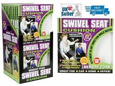 Deluxe 360° Swivel Seat Luxury Memory Foam Portable Cushion CAR HOME OFFICE