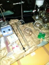 Chemistry Glassware Lot With Magnetic Stirrer Hotplate