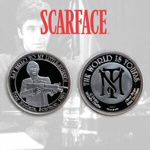 Scarface-Raccogliere-Moneta-The-World-E-Yours-Limitata-Collezionisti-Coin