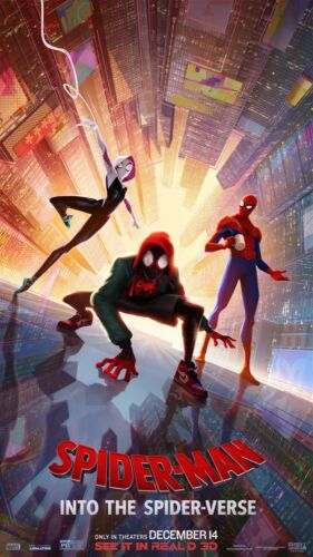 """Spider-Man Into the Spider-Verse Movie Poster 36x20/"""" Wall Decor"""