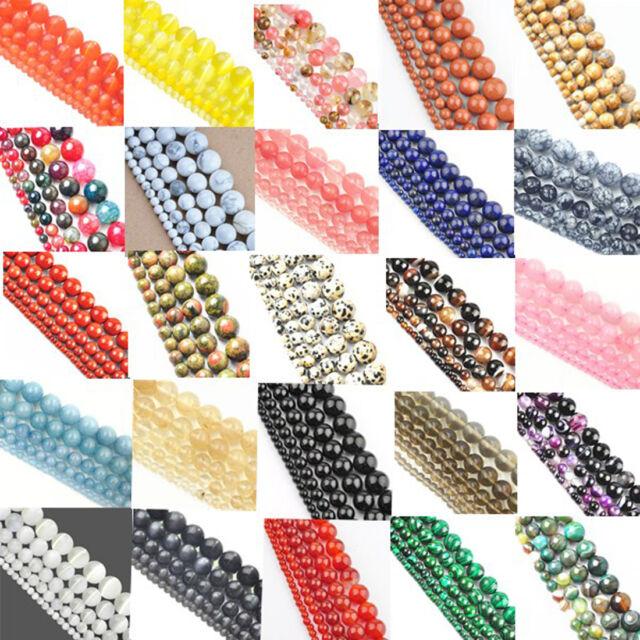 Perles De L'espaceur Entretoise Pierre Naturelle Bijoux Fabrication 4 to12mm