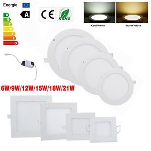 6W-9W-12W-15W-18W-24W-Dimmable-LED-Recessed-Ceiling-Panel-Down-Light-Bulb-Lamp