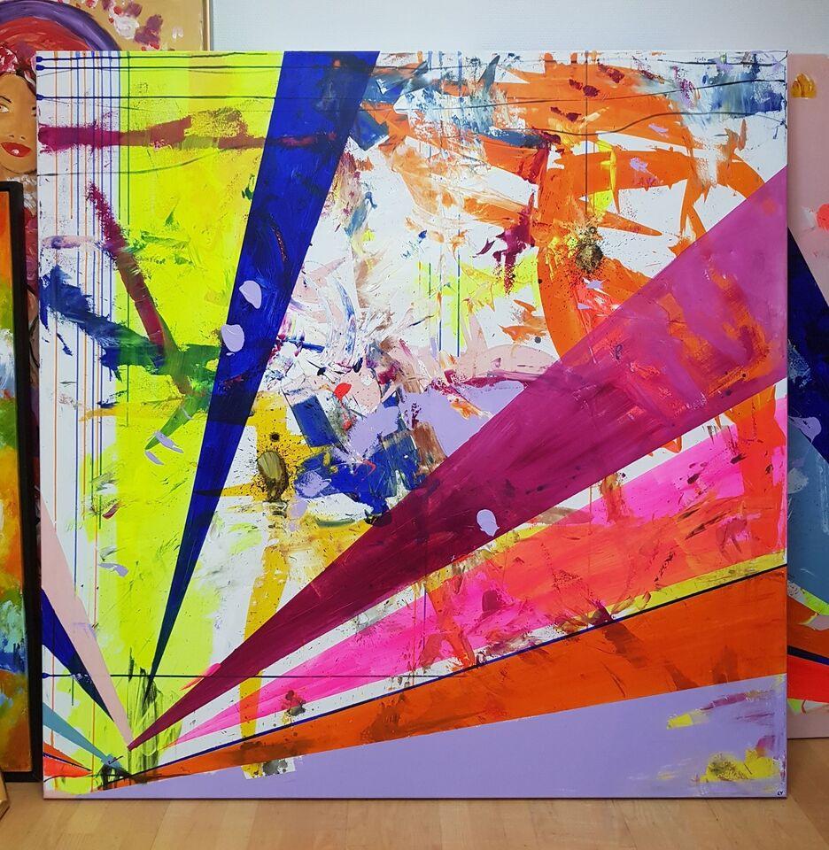 Akrylmaleri, Lone Luna, motiv: Abstrakt