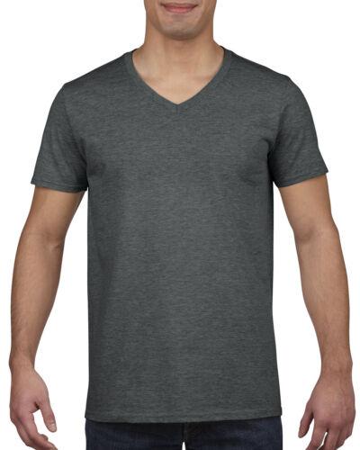 2XL MENS 100/% V NECK COTTON T-SHIRT GILDAN Plain V Neck T SHIRT Small
