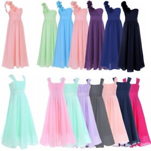 9271f8a9dae1 Image is loading Girl-Flower-Party-Dress-Child-Princess-Prom-Formal-