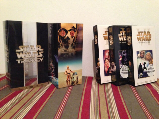 Star Wars Trilogy (VHS, 2000 ) Tapes-case & sleeves