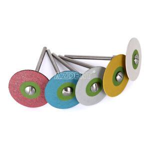 Dental Laboratory Rubber Diamond Polisher Wheel Disc For Porcelain HP AZDENT