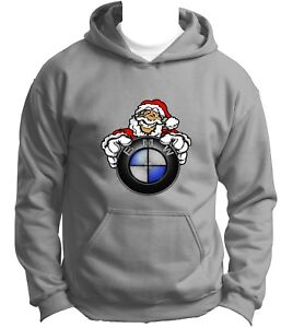 NEW-BMW-Santa-Claus-Hoodie-Hoody-Hooded-Sweatshirt-Jumper-Pullover