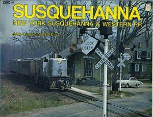Susquehanna-New-York-amp-Western-RR-Railroad-Train-John-Krause-Ed-Crist-1980
