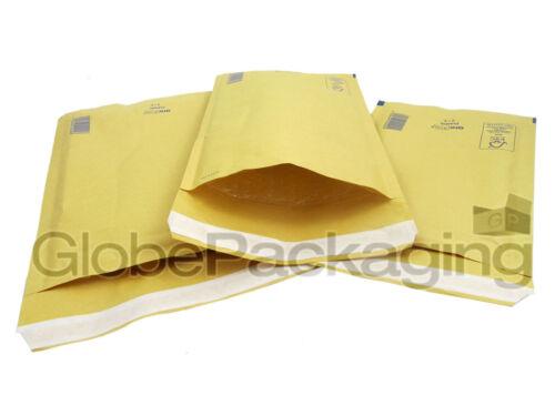 10 X arofol Ar2 Oro Burbuja Sobres Bolsas acolchadas 120x215mm B//00 Valor *