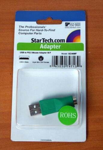 StarTech USB To PS//2 Adapter M//F GC45MF Green