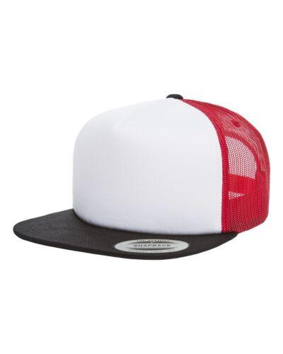 New Yupoong Foam Trucker Cap Sponge Backing 5-Panel Structured Hat 6005