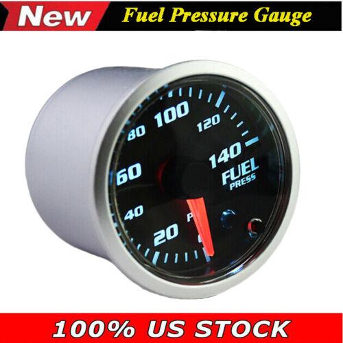 52mm 7 Color LED 0-140 PSI Diesel Fuel Pressure Gauge w Sensor Unit