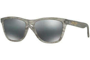 d057b9d6deca oo9013-B6 55 Oakley Sunglasses Frogskins Matte Clear Black Iridium ...