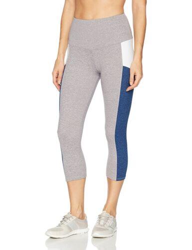 M NWT $69 Onzie Yoga Stunner Capri Legging #2011 in Moonlight Blue Combo sz S
